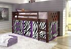 Donco Twin Circles Low Loft/Bunk Bed for Girls with Tent ...