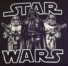 Star Wars T shirt Darth Vader Stormtroopers Silver Black Juniors S M L XL 2XL