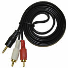 3.5mm 5ft Stereo Mini Plug to 2 RCA Plugs Y Cable Splitter for Audio Devices