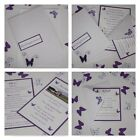 Handmade BUTTERFLY wedding: EMBOSSED INVITATIONS & INSERTS & RSVP; 60 colours