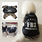 Pet Puppy Dog Cat Camouflage Cotton Winter Warm Coat Costume Jacket FBI Design