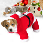 Pet Puppy Dog Cat Front Legs Christmas Clothes Costume Santa Claus Outfit Coat