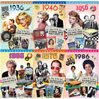 DVD Birthday Card 1936 1946 1956 1966 1976 1986 30th 40th 50th 60th 70th 80th