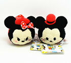 Lot 2 pcs Mickey and Minnie in hat New Tsum Tsum plush Toy Doll Screen Wipe Gift
