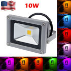 IP65 10W LED Flood Light Outdoor Garden Landscape Yard Warm/Cool White/RGB Lamp