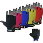 Leather Cycling Gloves Padded Palm Fingerless Cycle Mitts Mittens Gloves Towel