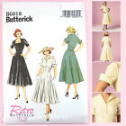 Butterick 6018 Sewing Pattern - Misses' 1950's Period Dress - Vintage Retro '52