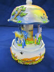 """Hand Painted Wind Up Musical Carousel 6.5"""""""