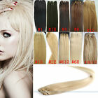 "100% Human Hair Straight Weaving Weft Extension 16"" 18"" 20"" 22"" 24"" 100g Blonde"