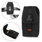 Vertical Heavy Duty Rugged Canvas Metal Belt Clip Loops Case for Samsung Phones