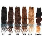 """12""""-28"""" Remy Brazilian Virgin Natural Wave 100% Real Human Hair Weft Extensions"""