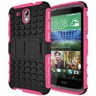 HTC Desire 526 Dual Layer Shockproof Cover Hybrid Rugged Case with Kickstand