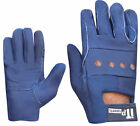 Leather Riding Gloves Soft Driving Wheel Chair Gloves Kids ,Ladies Navy Blue