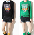 Celebrity Embroidery Tiger Head Jumper Outerwear S M L Black and Green