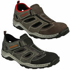 08075 MENS RIEKER CUT OUT SLIP ON LEATHER CASUAL VELCRO OUTDOOR SUMMER SHOES