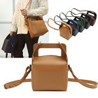 WOMEN'S HANDBAG MILKY BOXED MINI TOTE SHOULDER CROSS BAG REAL COWHIDE LEATHER