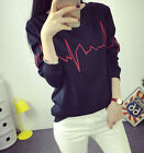 Hot Sale! Korean Ulzzang Wave of Heart Embroidery Coat Wool Plus BF Outerwear