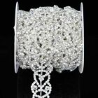 1 Yd Glass Chain Rhinestone Applique Costume Trims Trimmings for Cake Dress DIY