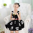 NEW Girls Baby Formal Winter Dresses Cotton Blend Floral For Kids Party Special