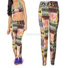 Womens YOGA Workout Gym Floral Sport Pants Leggings Fitness Stretch Trousers