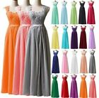 Long New Wedding Bridesmaid Applique Formal Evening Party Dress Prom BallGowns