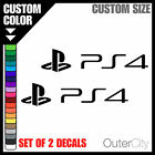 2x PS4 Decal - Laptop Skateboard Playstation 4 Game Console Car Sticker Label