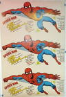 "UNCUT 1977 AMAZING SPIDER-MAN POCKET BOOK PROMOTIONAL POSTER 38""x25"" Rare Marvel"