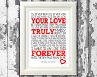 Savage Garden Song Lyric Poster Truly Madly Deeply Art Typography Print Design