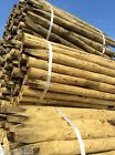 "5'6"" x 2"" to 3"" Treated Round Pointed Garden Field Fence Post Stakes"
