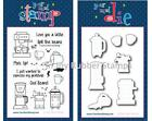 """Your Next Stamp PERK UP Clear 4""""X6"""" Set + Die Set Cool Beans Love You a Latte"""