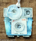 Hang Tags RETRO BLUE CAMERA WEDDING PHOTO BOOTH or WISH TAGS #32 Gift Tags