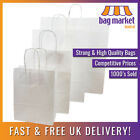 Strong White Kraft Twisted Handle Paper Carrier Bags!! | Shop/Gift/Party/Fashion