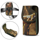 REIKO Camouflage Army Vertical Heavy Duty Canvas Belt Clip Case for Sonim Phones
