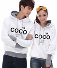 4 Colors NO9 COCO Lovers Couples Hoodie Leisure Thick warm Women Men E-W6092