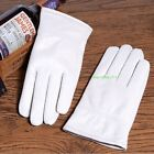 New White Women's (100% Real Leather) Winter Warm Gloves, Driving/Wedding Gloves