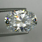 IF Brilliant Oval Colorles White (D-F) Russian Lab Made Diamond AAAAA SUN