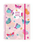 A5 2016-2017 Mid-Year Wiro Academic Day a Page Diary In 3 Design x 1