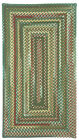 Capel Rugs Sherwood Forest Wool Country Rectangle Braided Rug #275 Hunter Green