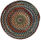 Capel Rugs St.Johnsbury Wool Braided Country Casual Round Rug Black 300