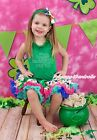 Green Top Shirt My 2ND St Patrick Day Rainbow Clover Girls Skirt Outfit Set 1-8Y