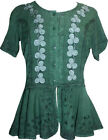 132 B Agan Traders Gypsy Medieval Renaissance Embroidered Top Blouse