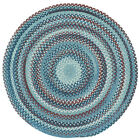 Capel Rugs Kill Devil Hill Wool Country Braided Area Round Rug Blue #425