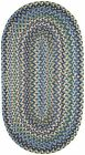 Capel Rugs Pristene Blue Multi Reversible Country Home Oval Braided Rug