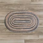 Colonial Mills Oak Harbour Rich 100% Wool Area Braided Rug Graphite OH98