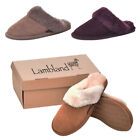 Lambland Ladies Full Sheepskin Slipper Mule with Sheepskin Cuff