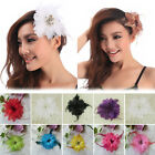 Women Flower Hair Clip Head Fascinator Feather Hairpin Orchid Wedding Bridal NEW