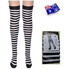 Over Knee Socks Plain Striped Rainbow High Ladies Long Womens Stripey Stocking <br/> AU----------------------------- Buy 1, get 1 at 10% off
