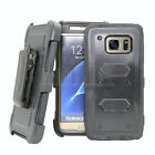 Shockproof Rugged Hybrid Hard Case Protective Cover With Belt Clip Holster Stand