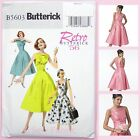 Butterick 5603 Sewing Pattern Misses' Dress - Vintage Retro 50's Repro. - Easy