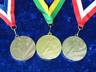50 x Football Medals Tournament Competition Man of Match Ribbon Gold or Silver